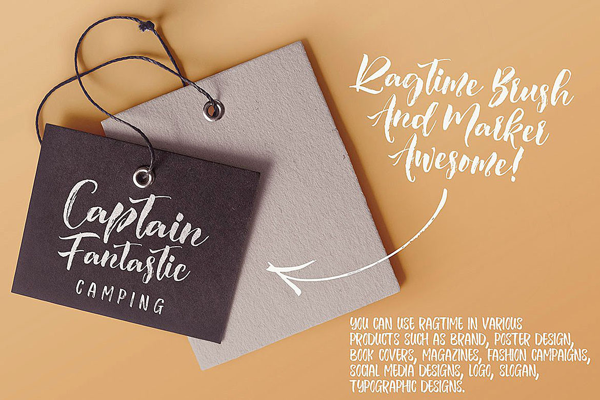 Ragtime - Brush Font Duo example image 8