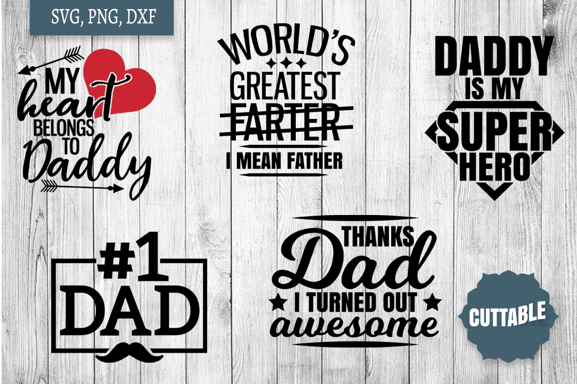 Father's Day SVG bundle, Father's cut files, Dad quote svg example image 2