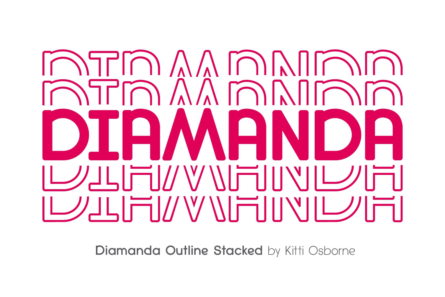 Diamanda Font Family Bundle includes 6 crafting fonts example image 20