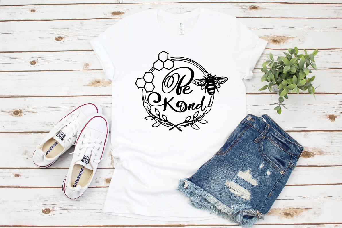 Bee Kind svg, bee svg, Kind svg, Cute svg, summer svg example image 1
