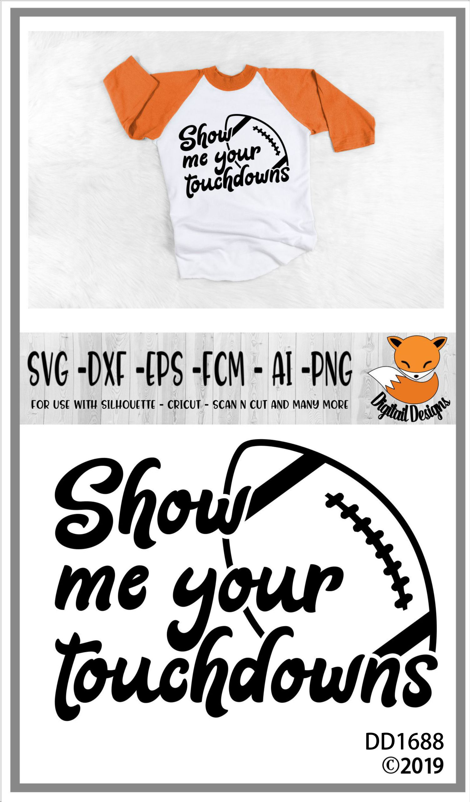 Football Show Me your Touchdowns SVG example image 2