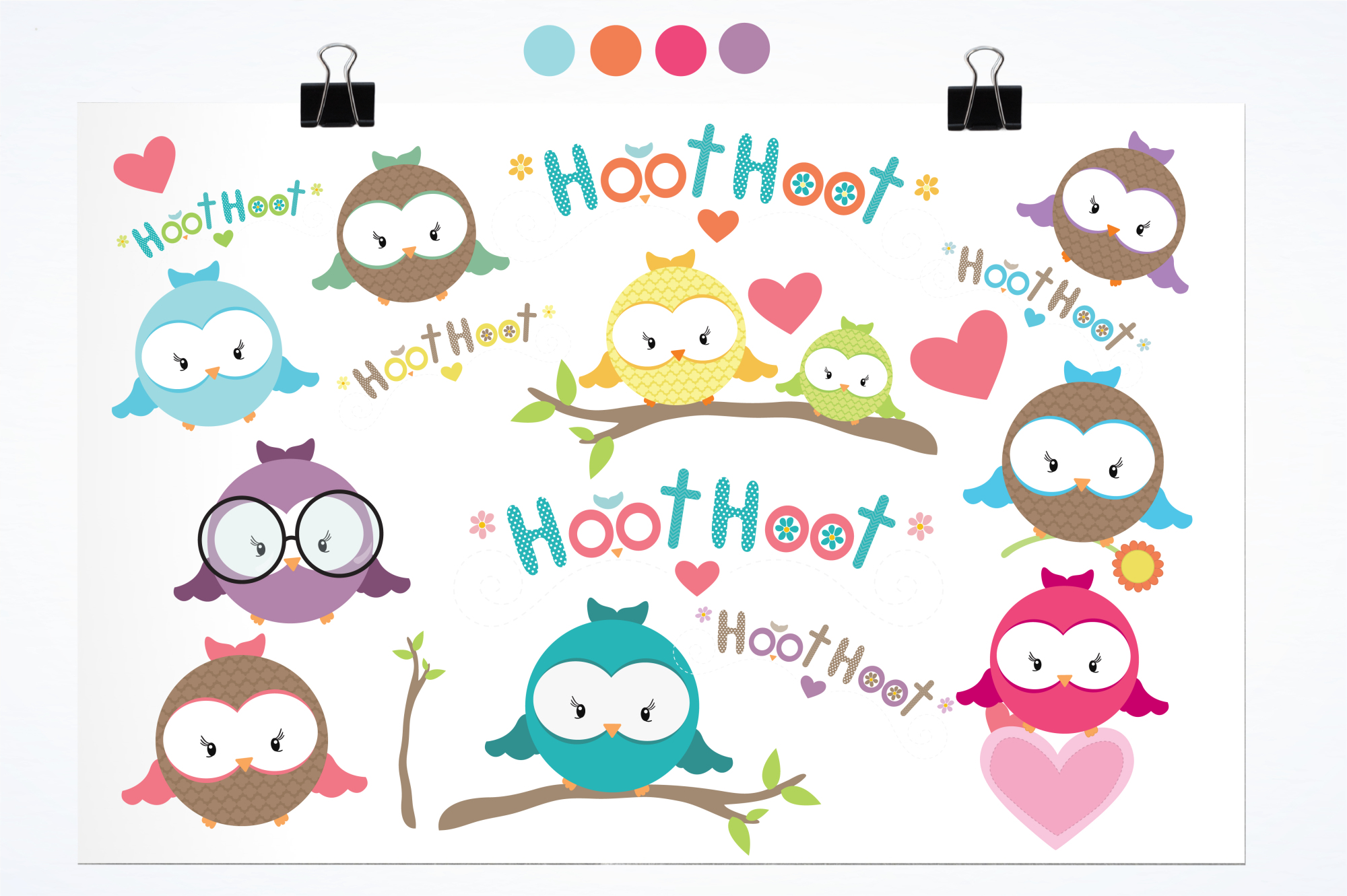 Hooties graphics and illustrations example image 2