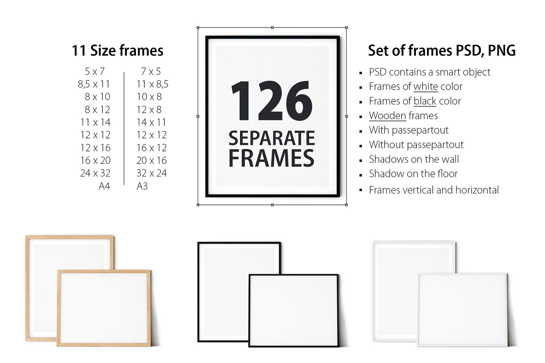 Scandinavian Interior Frames & Walls Mockup Bundle - 3 example image 5