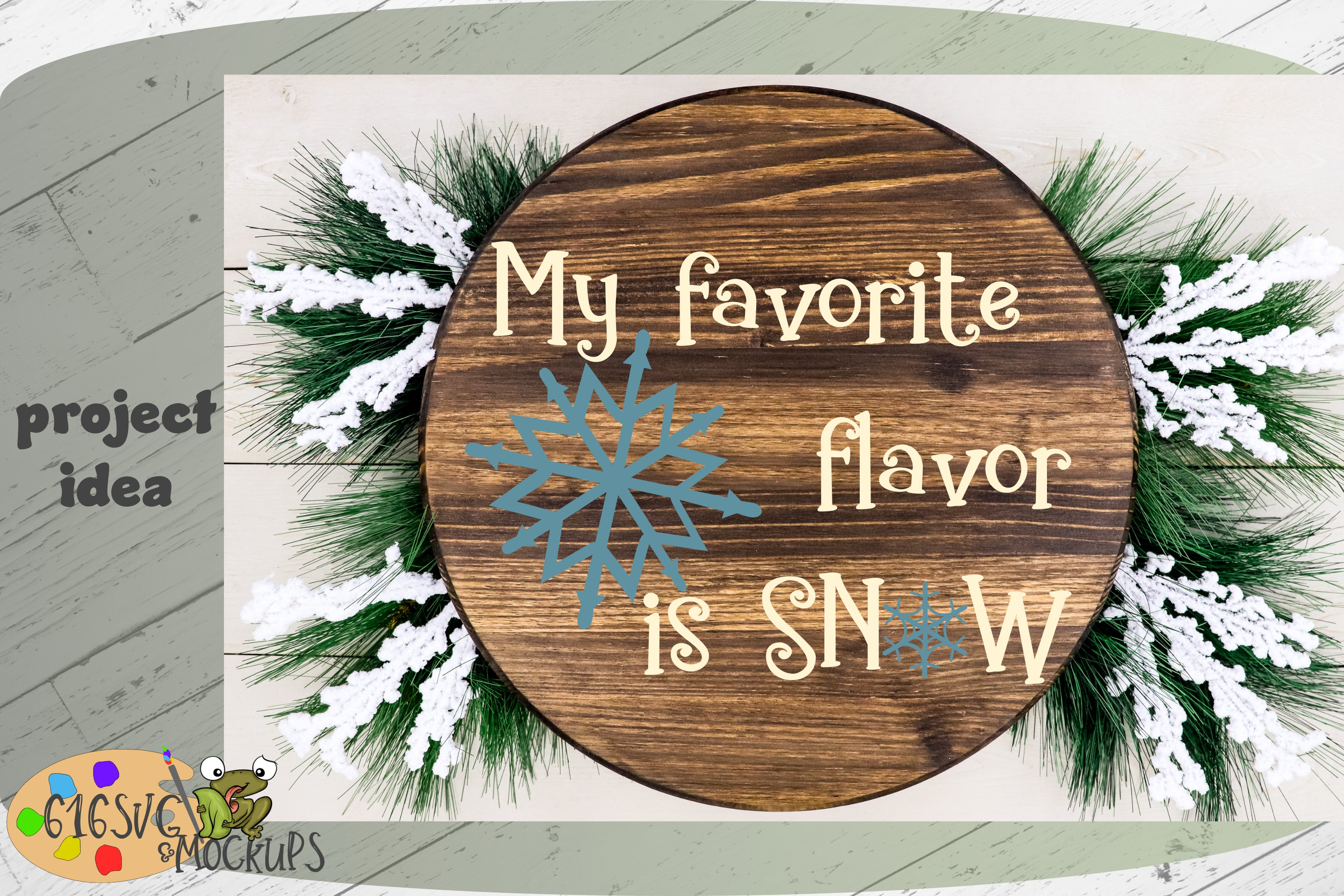 My Favourite Flavour Is Snow SVG example image 5