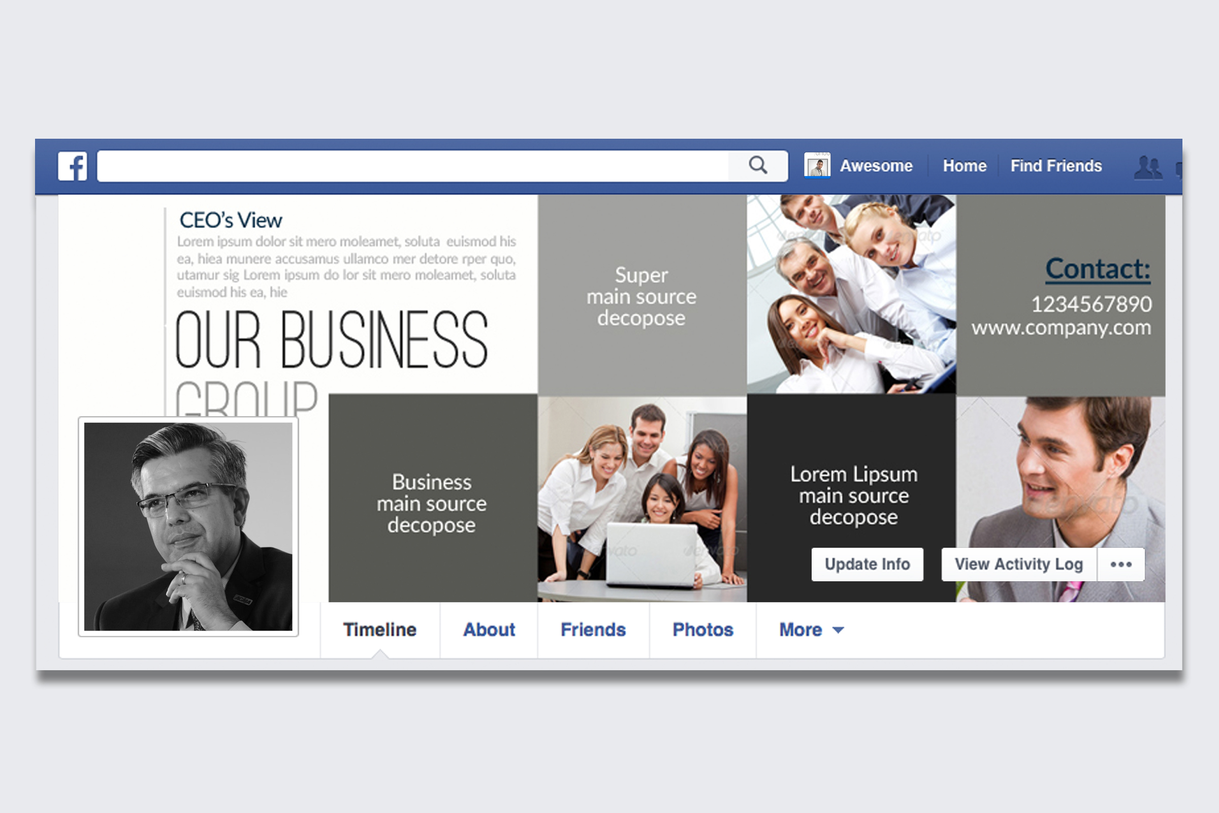 Business Corporate Facebook Cover example image 1