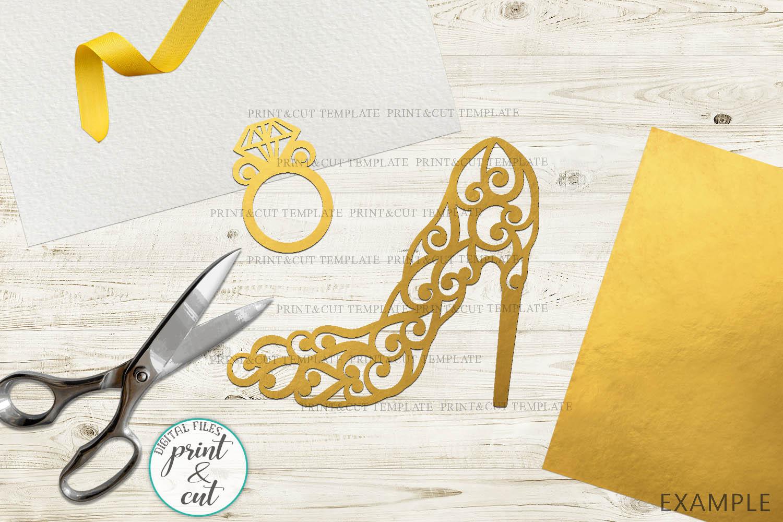 Wedding Princess Bride Bundle cut out svg dxf templates example image 5