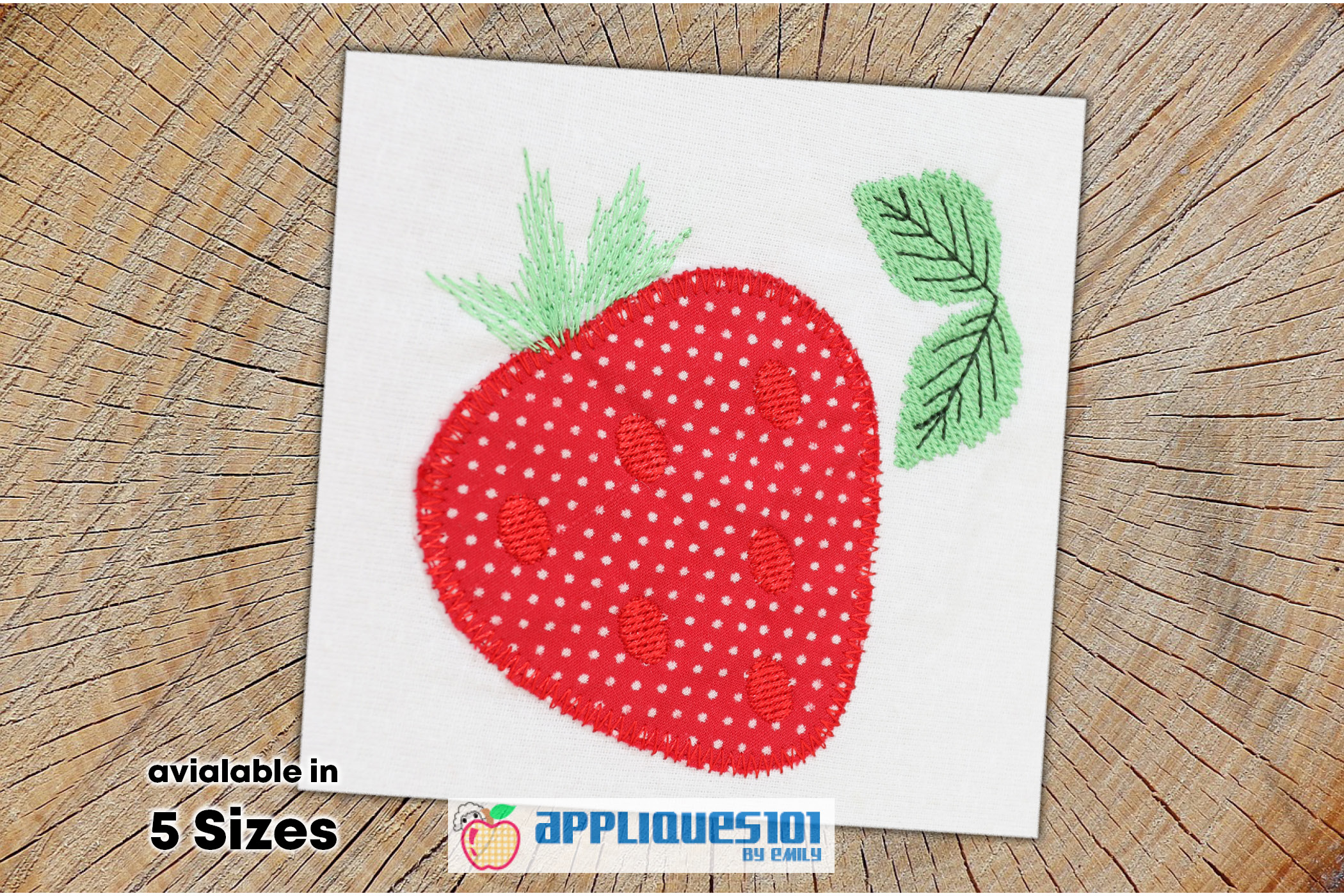 Strawberry Fruit Machine Embroidery Applique Design - Fruits example image 1