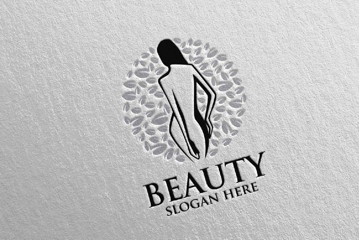 Natural Beauty, Yoga, Fitness, Massage Logo example image 4