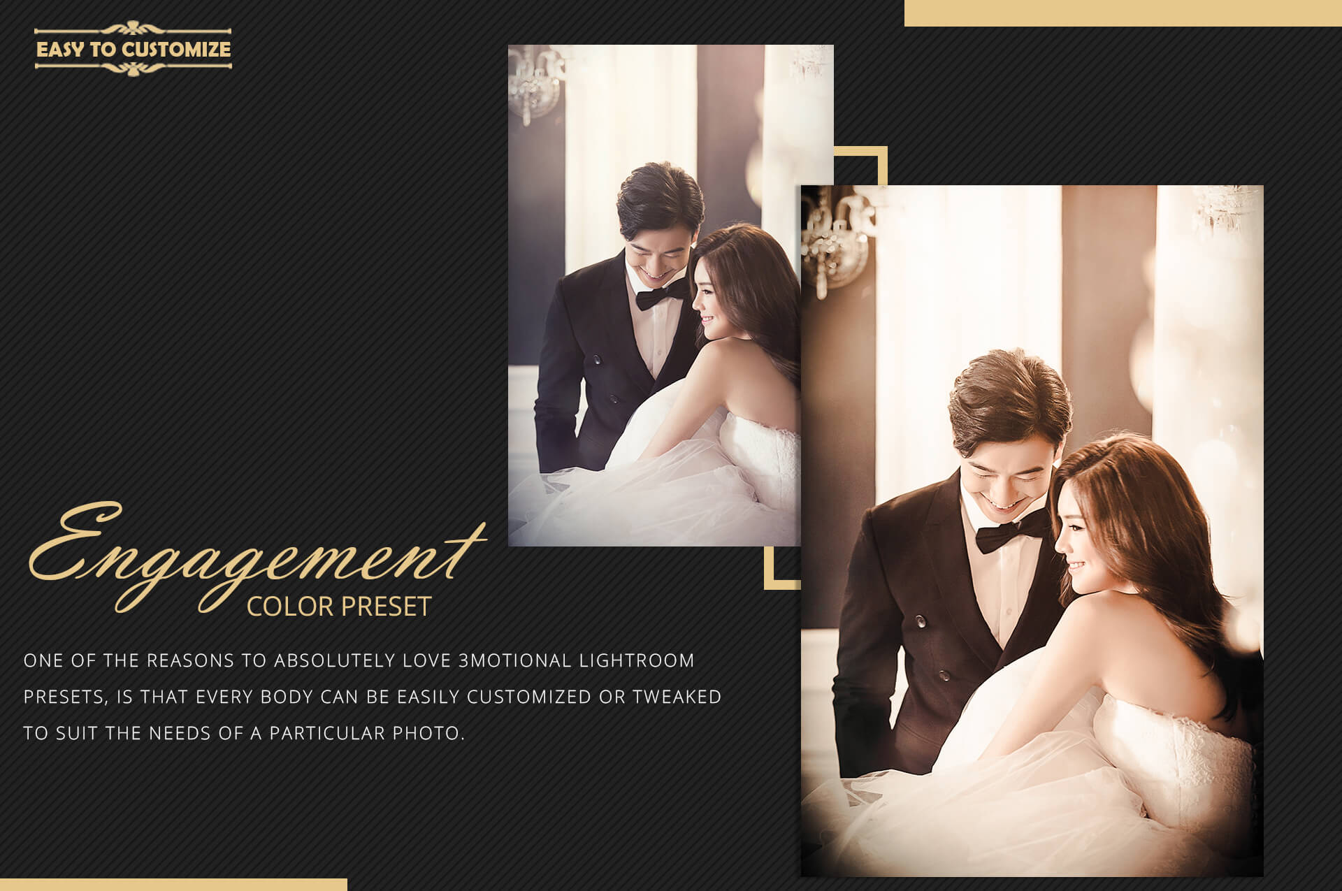 Engagement color grading lightroom presets theme example image 10
