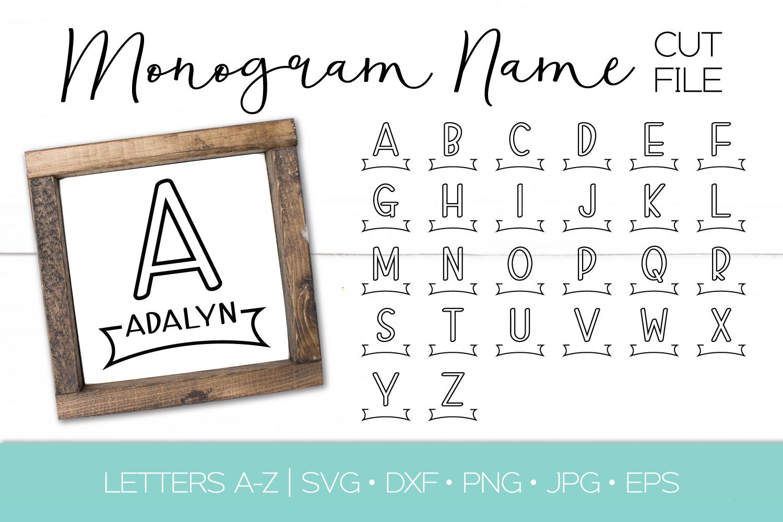 Split Monogram Letter Svg Dxf Eps Png Cut File Name Svg