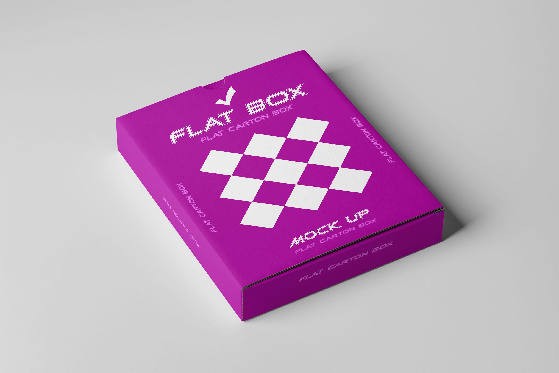 Flat Box Mockup example image 2