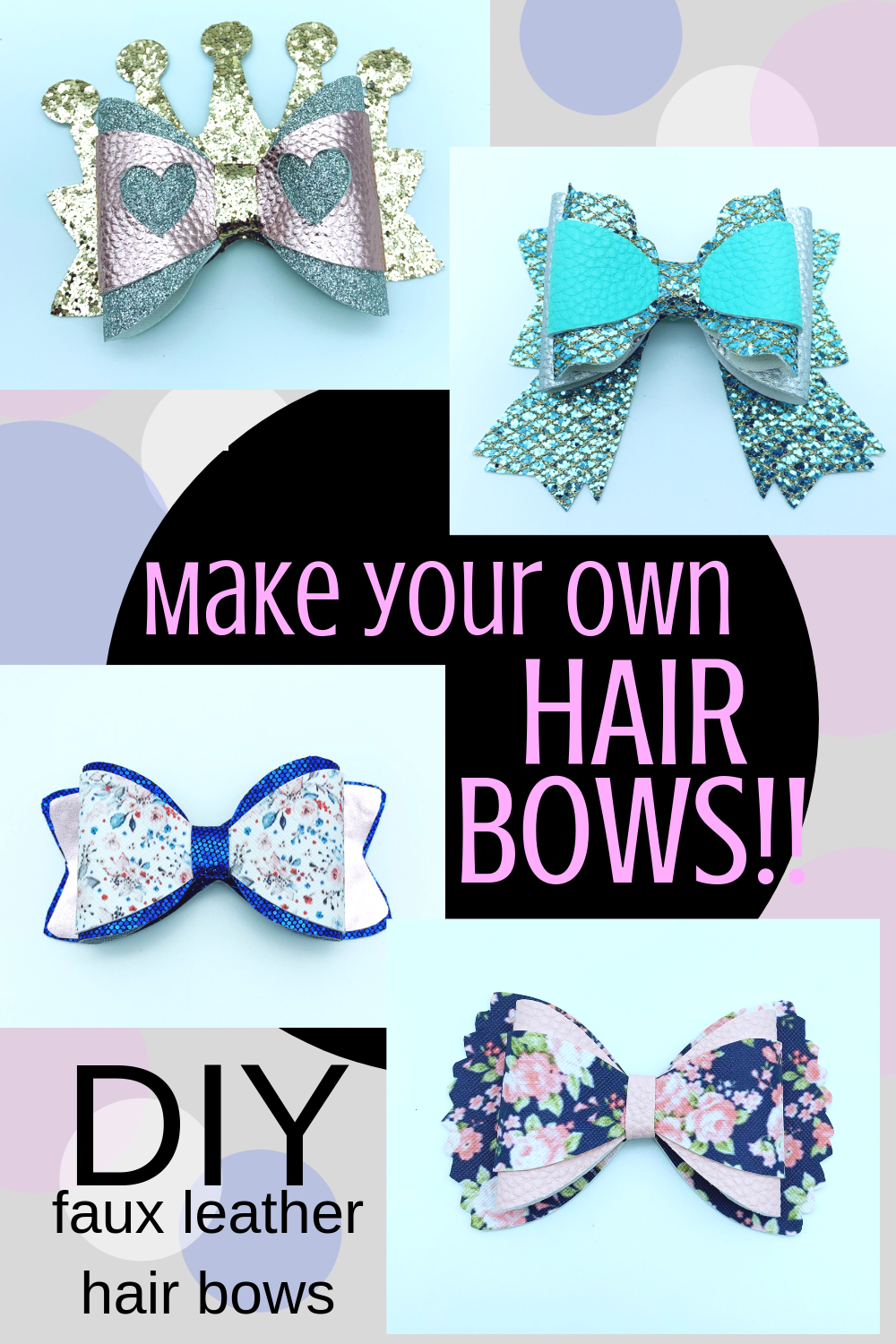 Hair bow - Princess crown hair bow svg file - diy hair bows example image 3