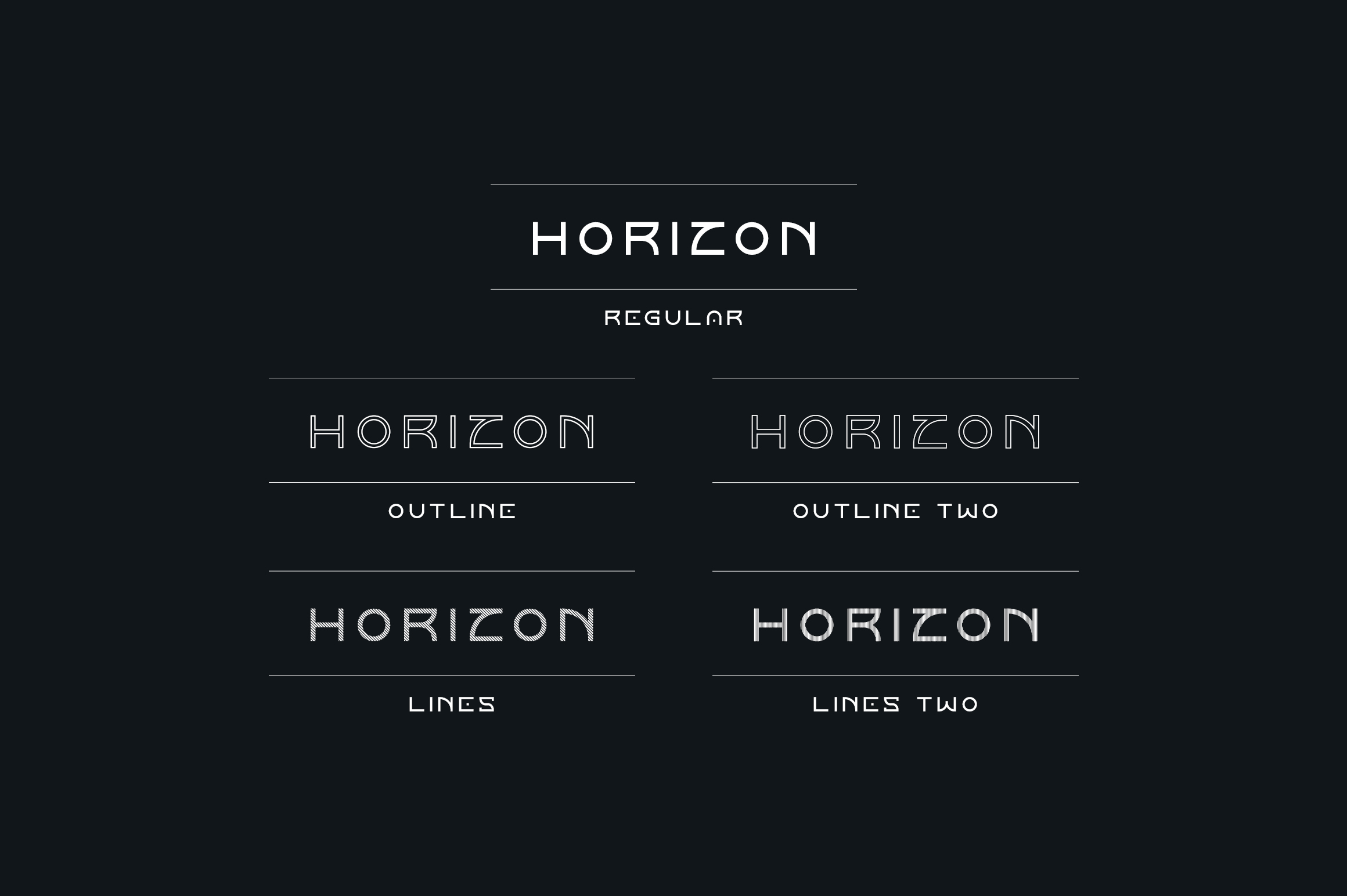Horizon font family example image 2