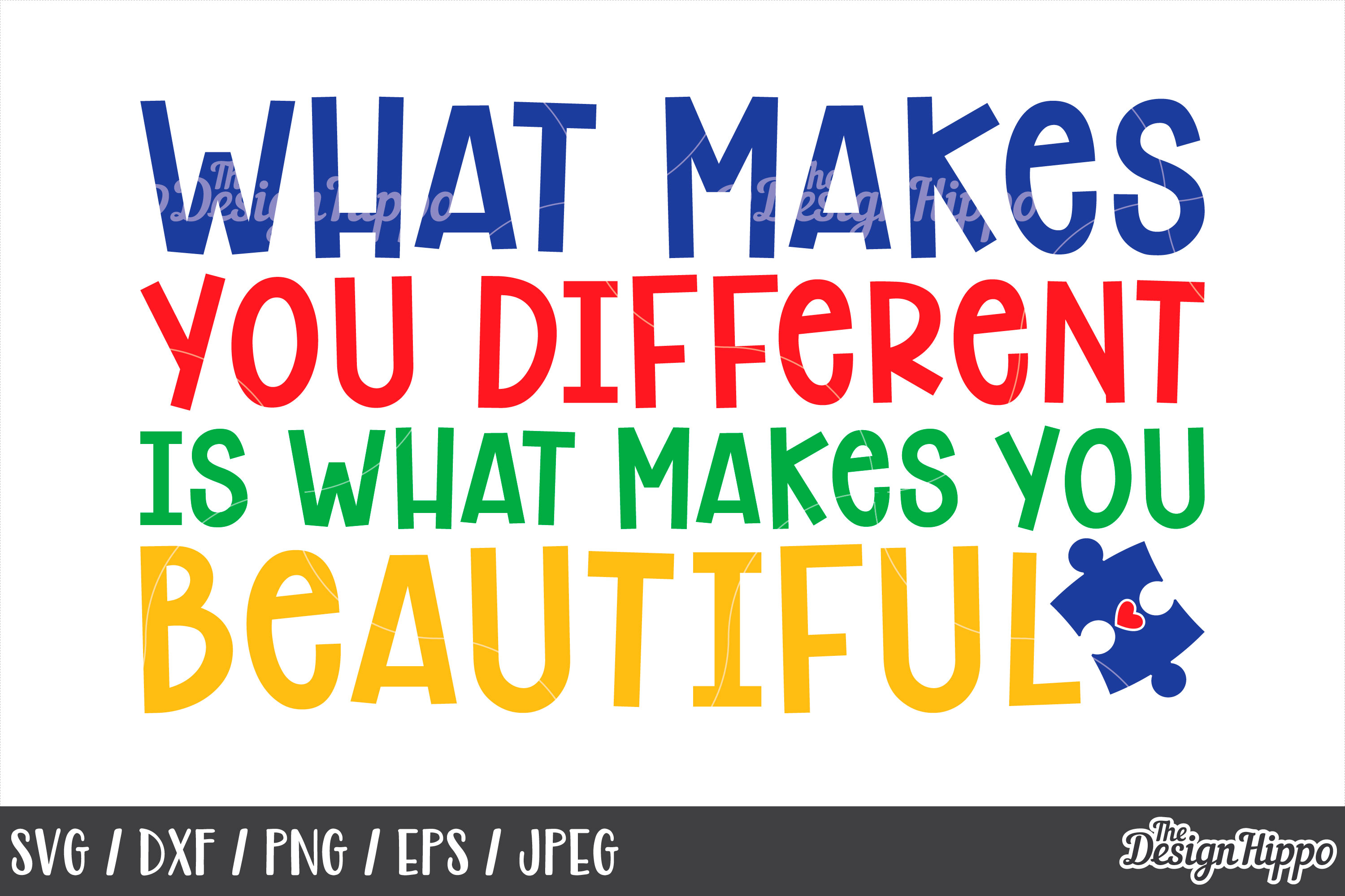 Autism Awareness, Inspirational Quote, Saying, SVG PNG DXF example image 1