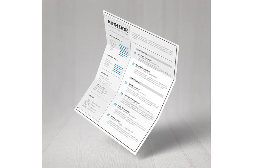 CV A4 Template example image 6