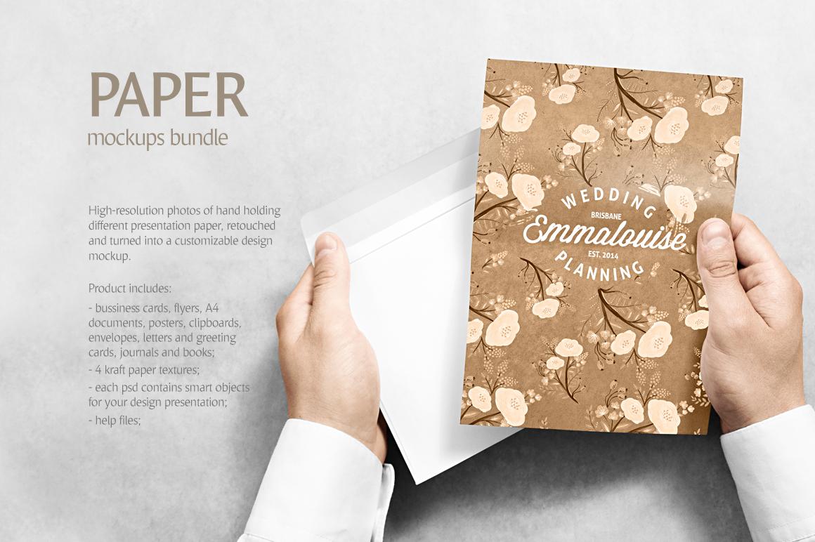 Paper Mockups Bundle example image 2