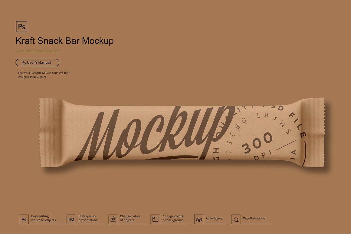 Kraft Snack Bar Mockup example image 2