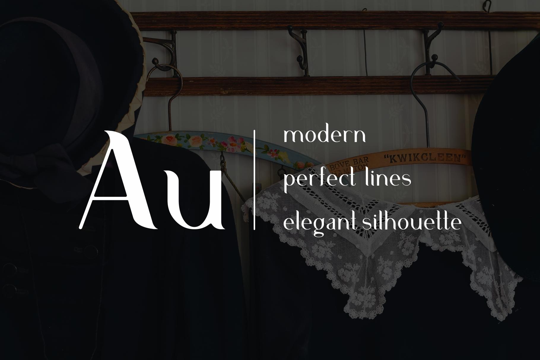 Aurum. Elegant Sans Serif typeface. example image 4