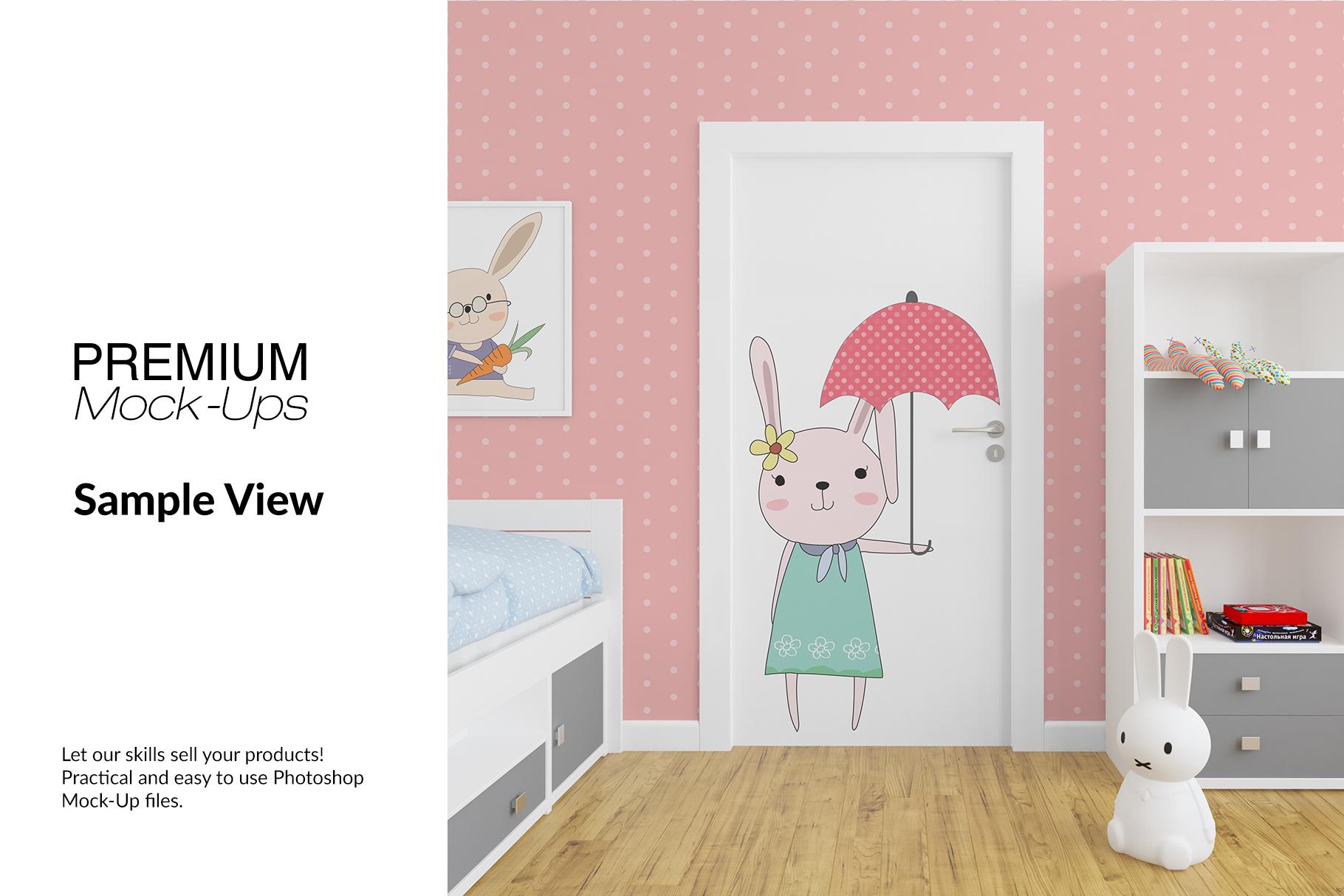 Door Murals in Nursery Set example image 10