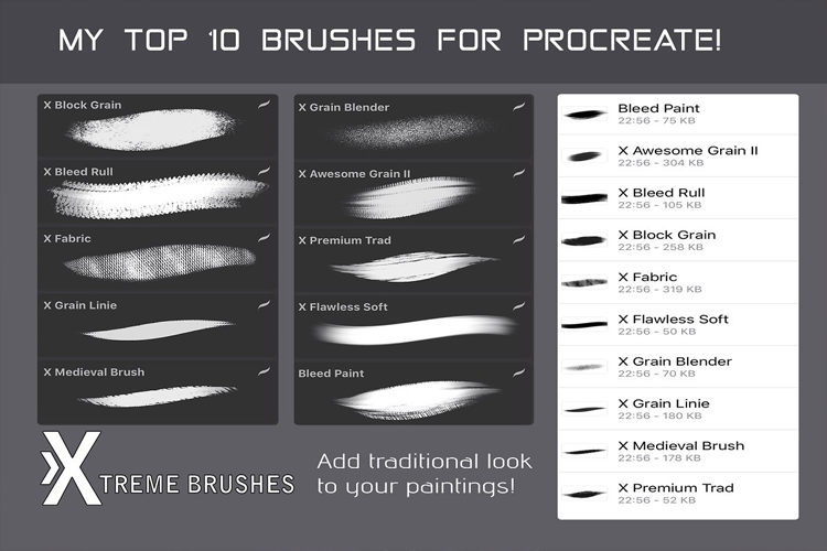 Top 10 Procreate Brushes example image 2