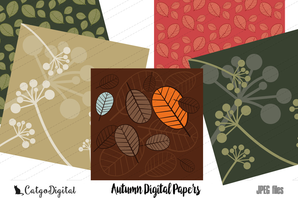 Autumn Papers Digital Scrapbooking Pack 12x12