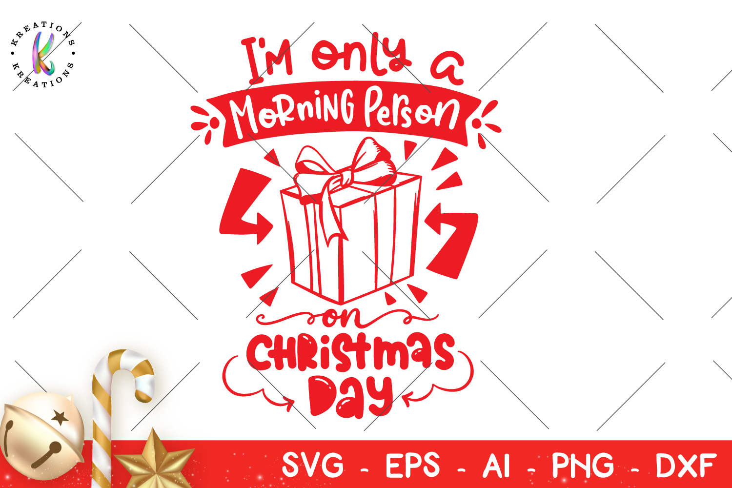I'm Only a Morning Person on Christmas Day svg Christmas svg example image 1