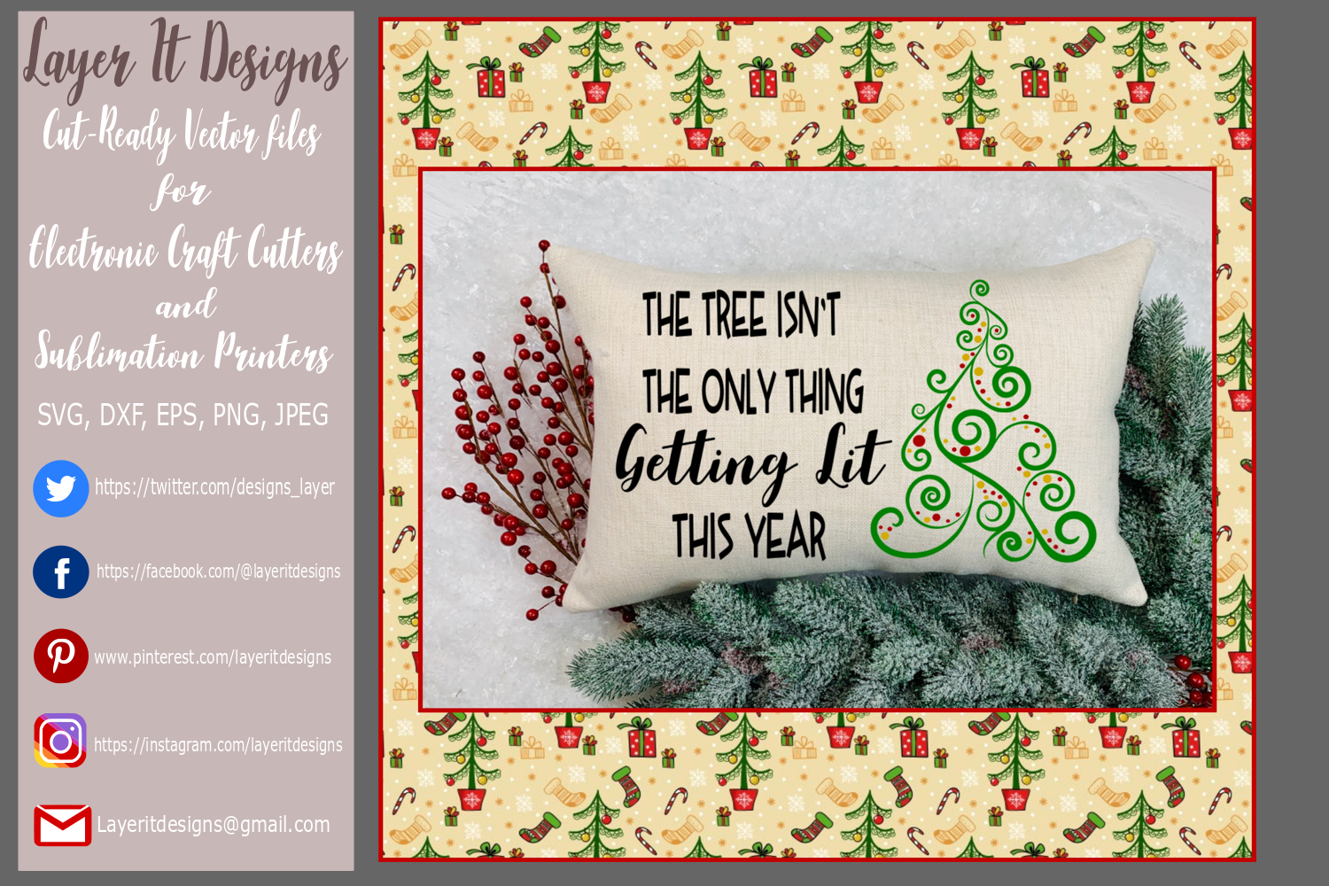 The Tree Isn't The Only Thing Getting Lit This Year design example image 2