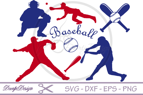 Baseball SVG for cutting machines example image 1