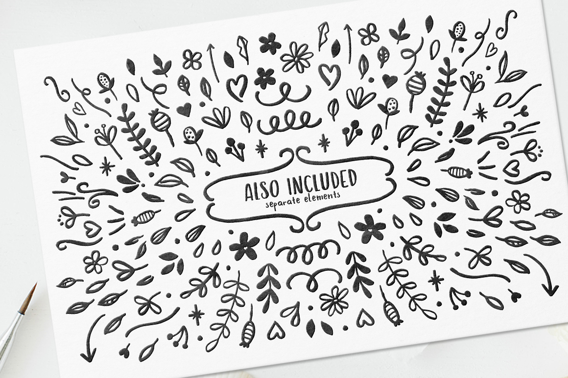 Hola Bisou - Fun, quirky inky font example image 11