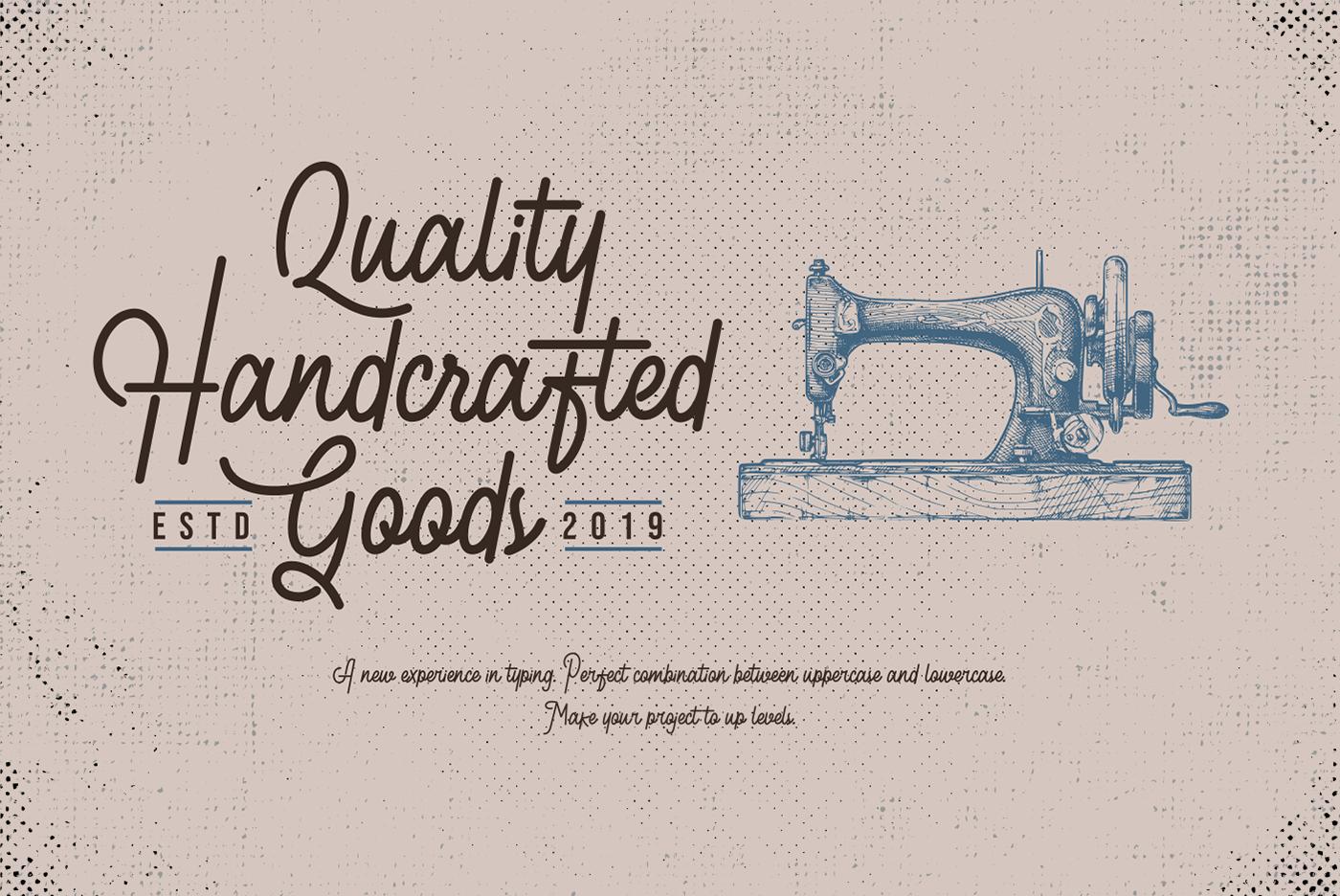 Retroville Monoline Typeface - Script Font example image 3