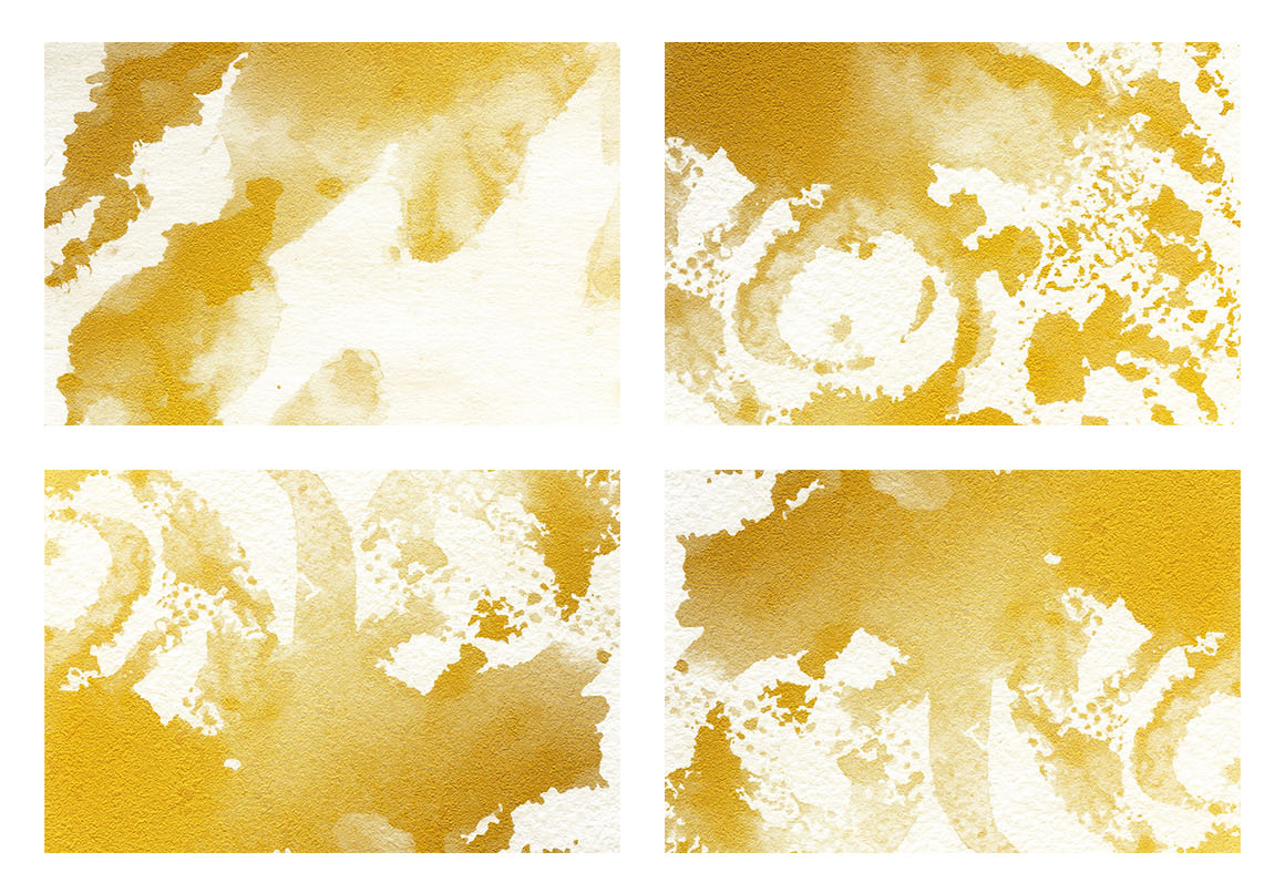 Watercolor Textures White and Gold example image 4
