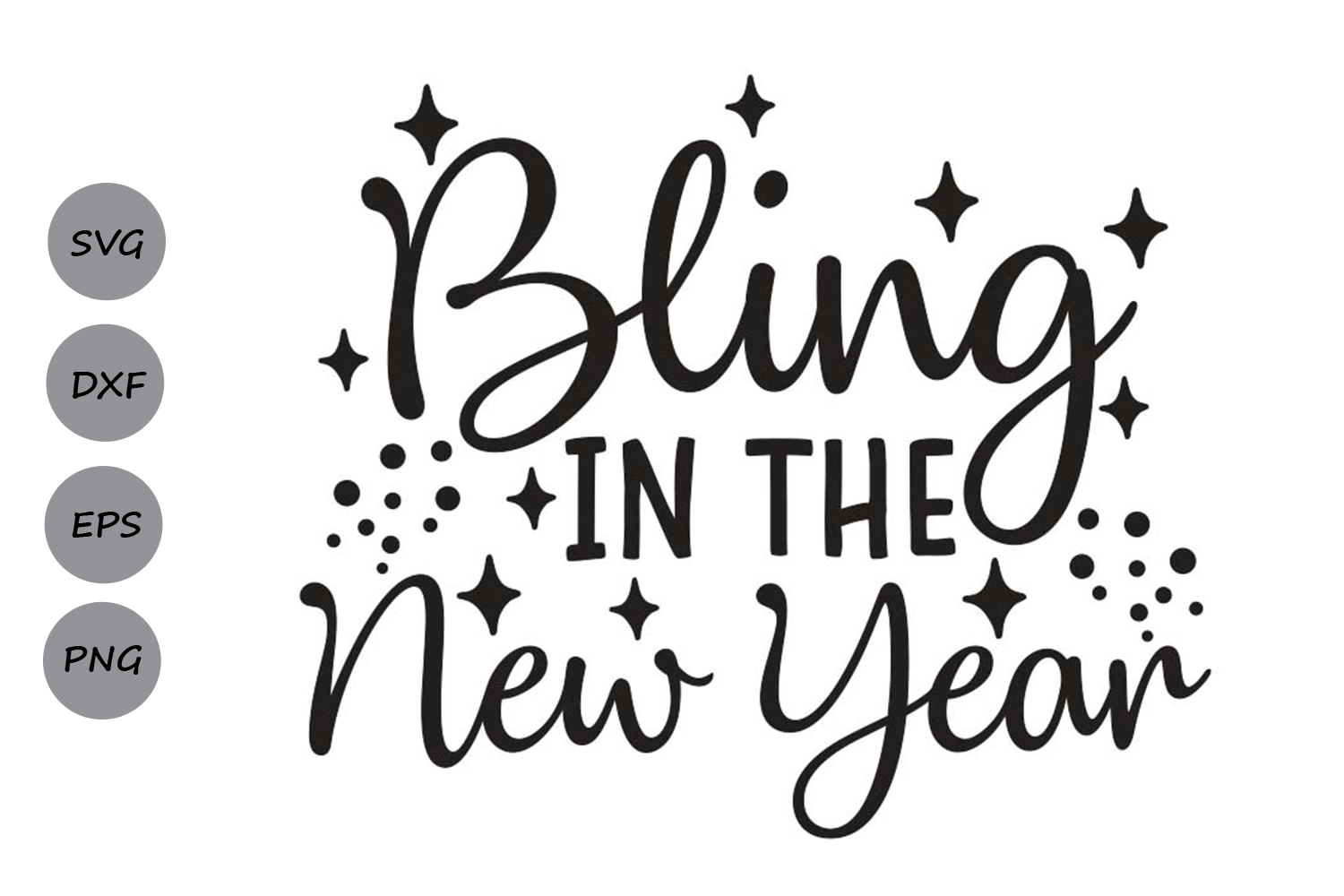 bling in the new year svg, new years eve svg, new years svg. example image 2