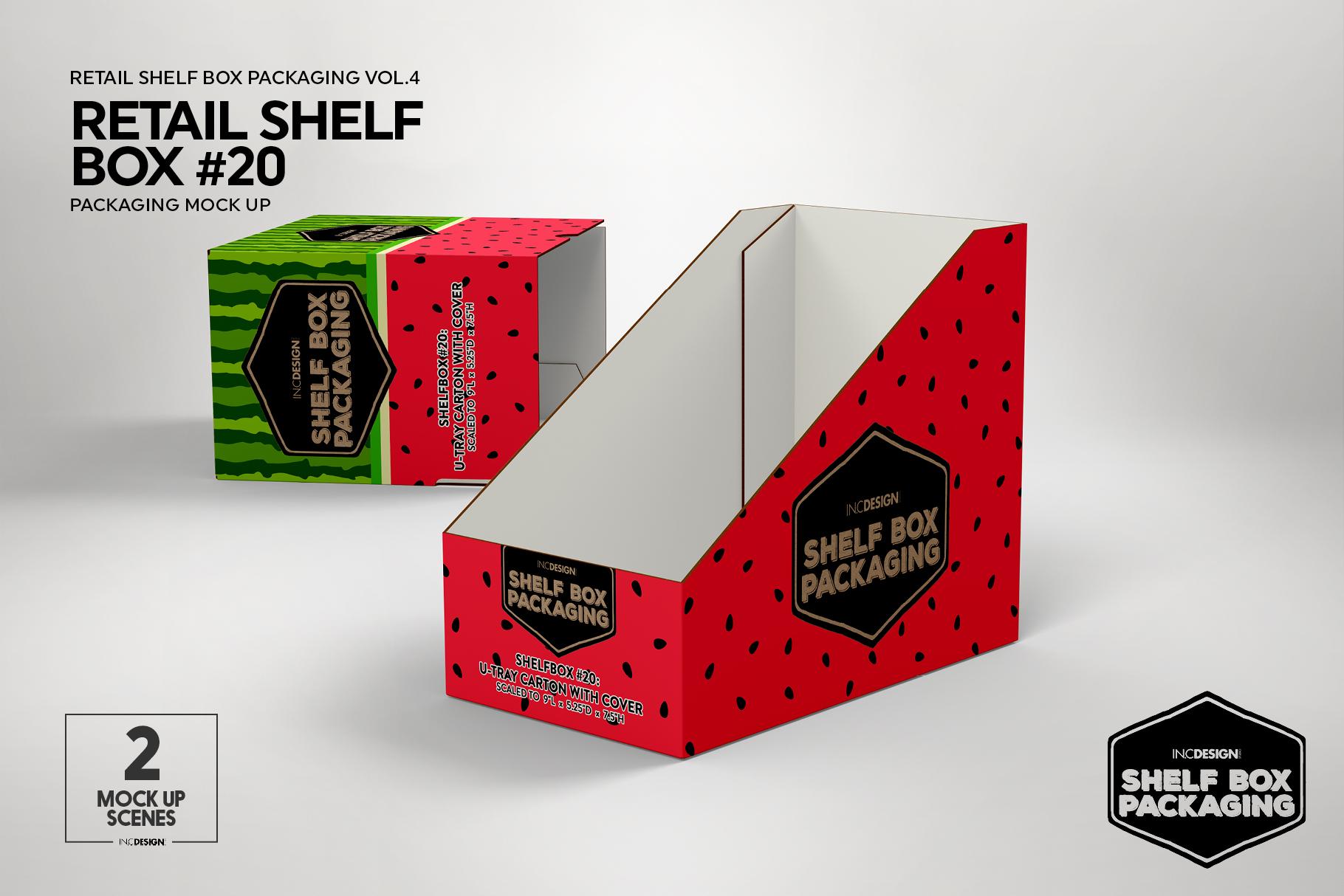 Retail Shelf Box 20 Packaging Mockup example image 5