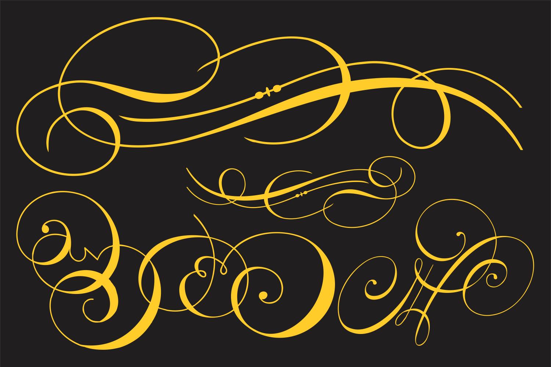 Invitation Script Ornaments  example image 4