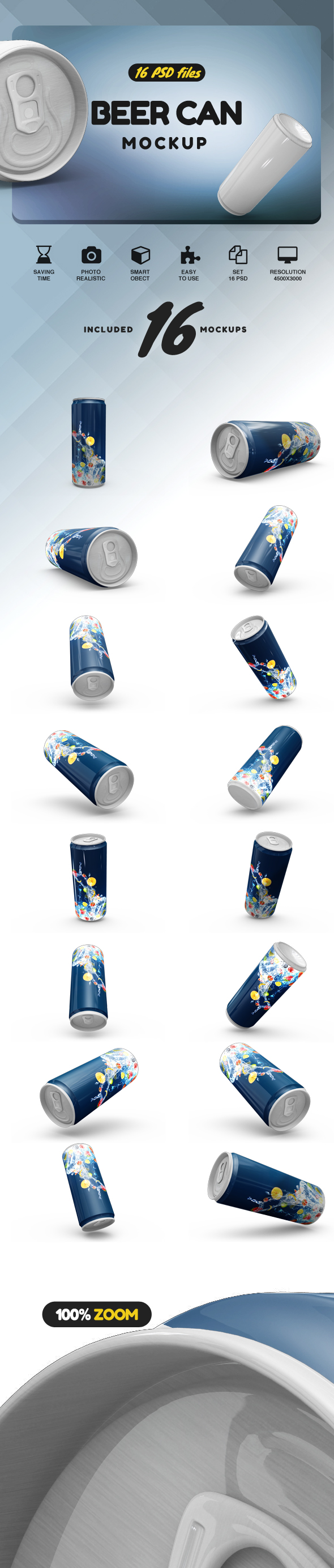 Beer Can Mockup example image 2