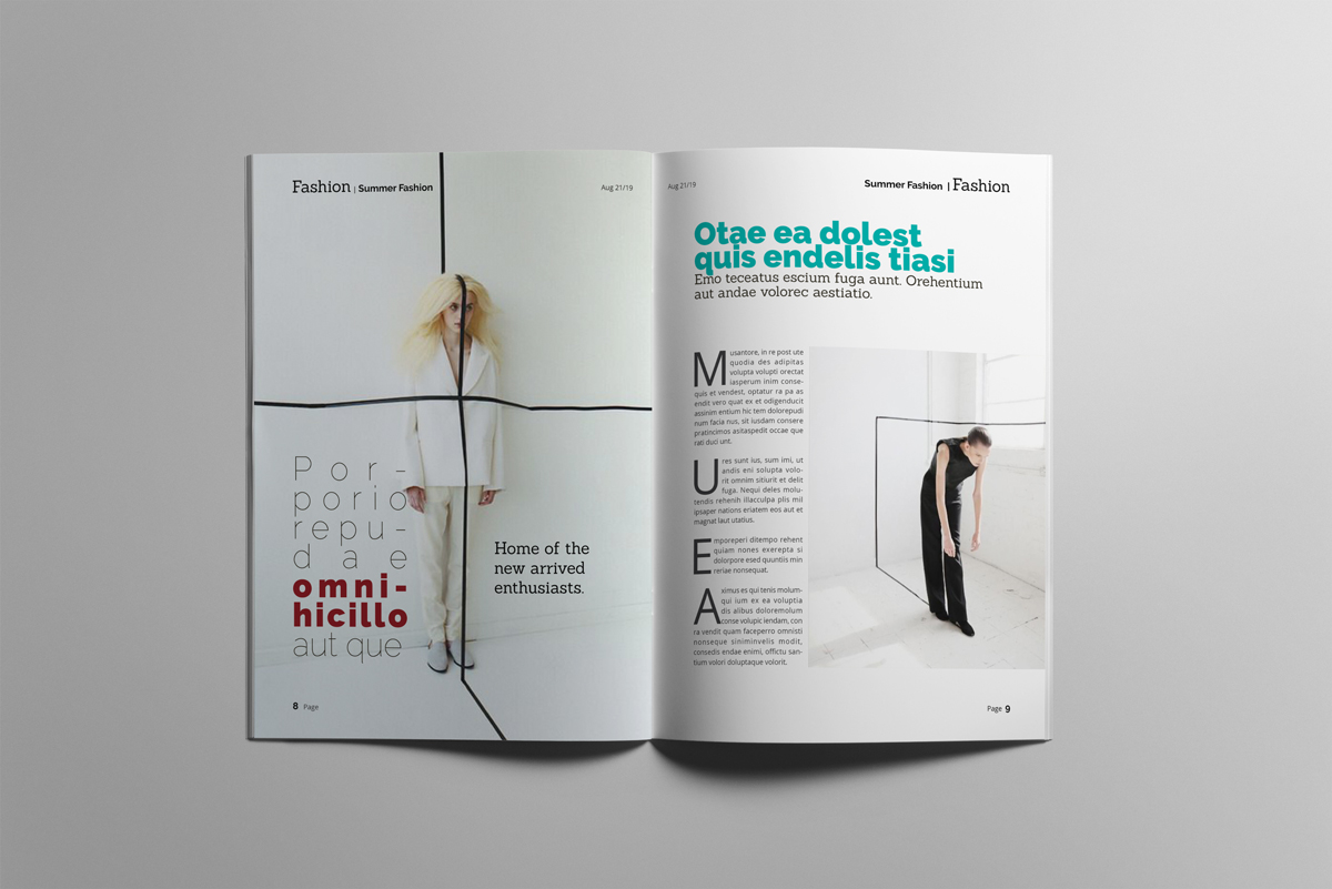 Magazine layout design example image 5