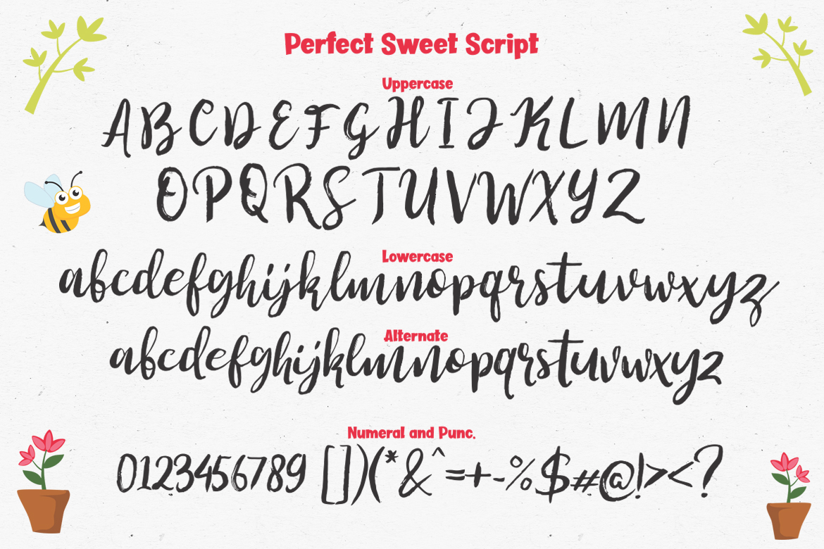Perfect Sweet - Font Trio and 150 Colourful Vectors example image 14