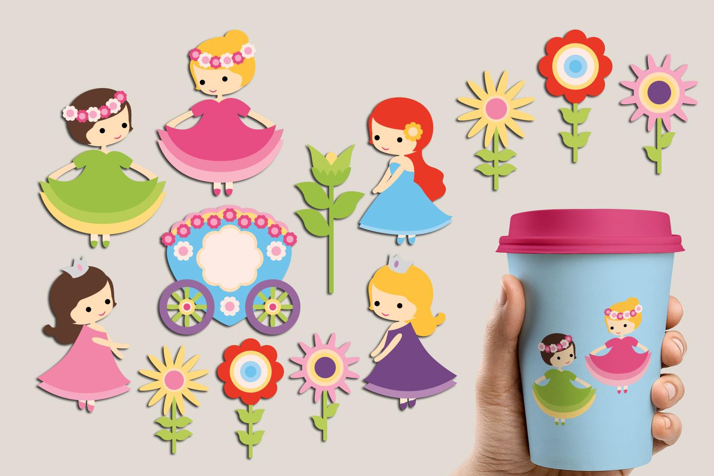 Just For Girls Clip Art Illustrations Huge Bundle example image 27