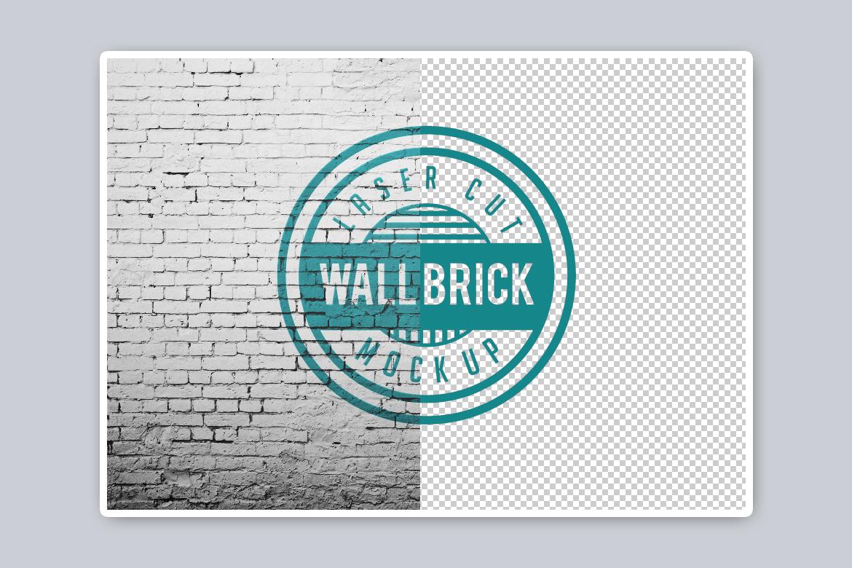Wall brick Mock Up example image 4