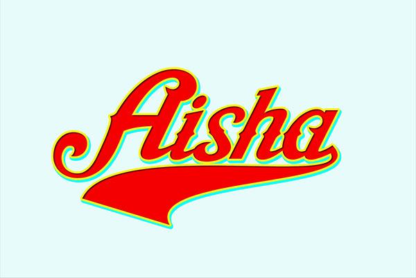 Aisha Script example image 1