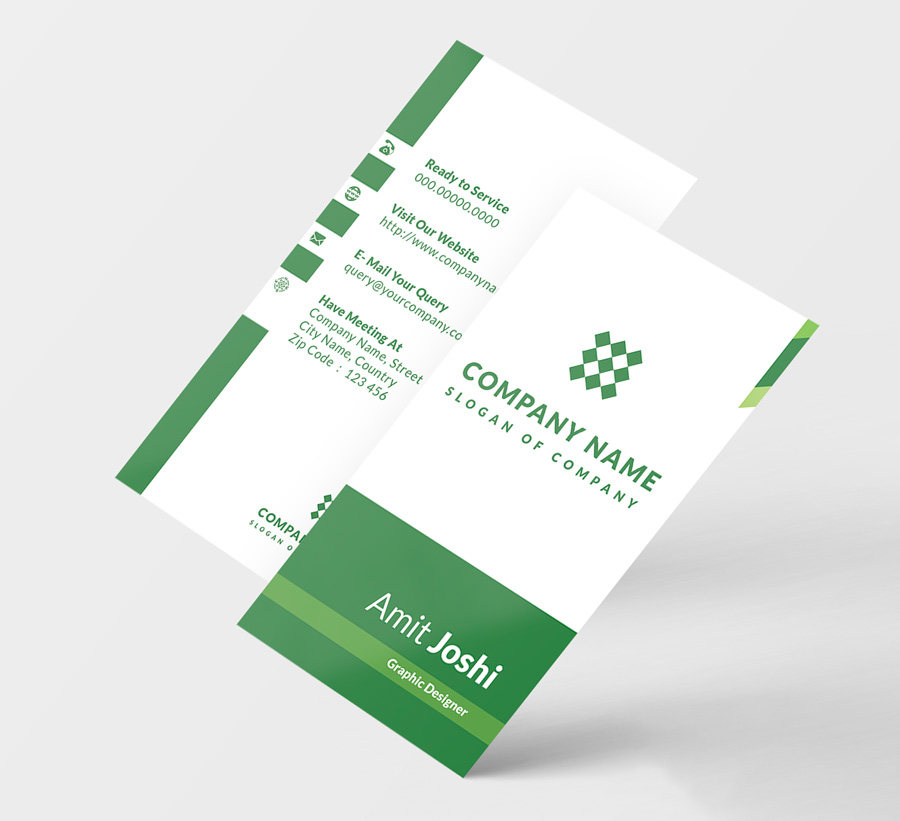 4 Solid Color Vertical Business Card example image 3