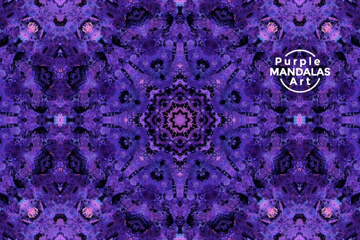 Purple MANDALAS Art example image 2