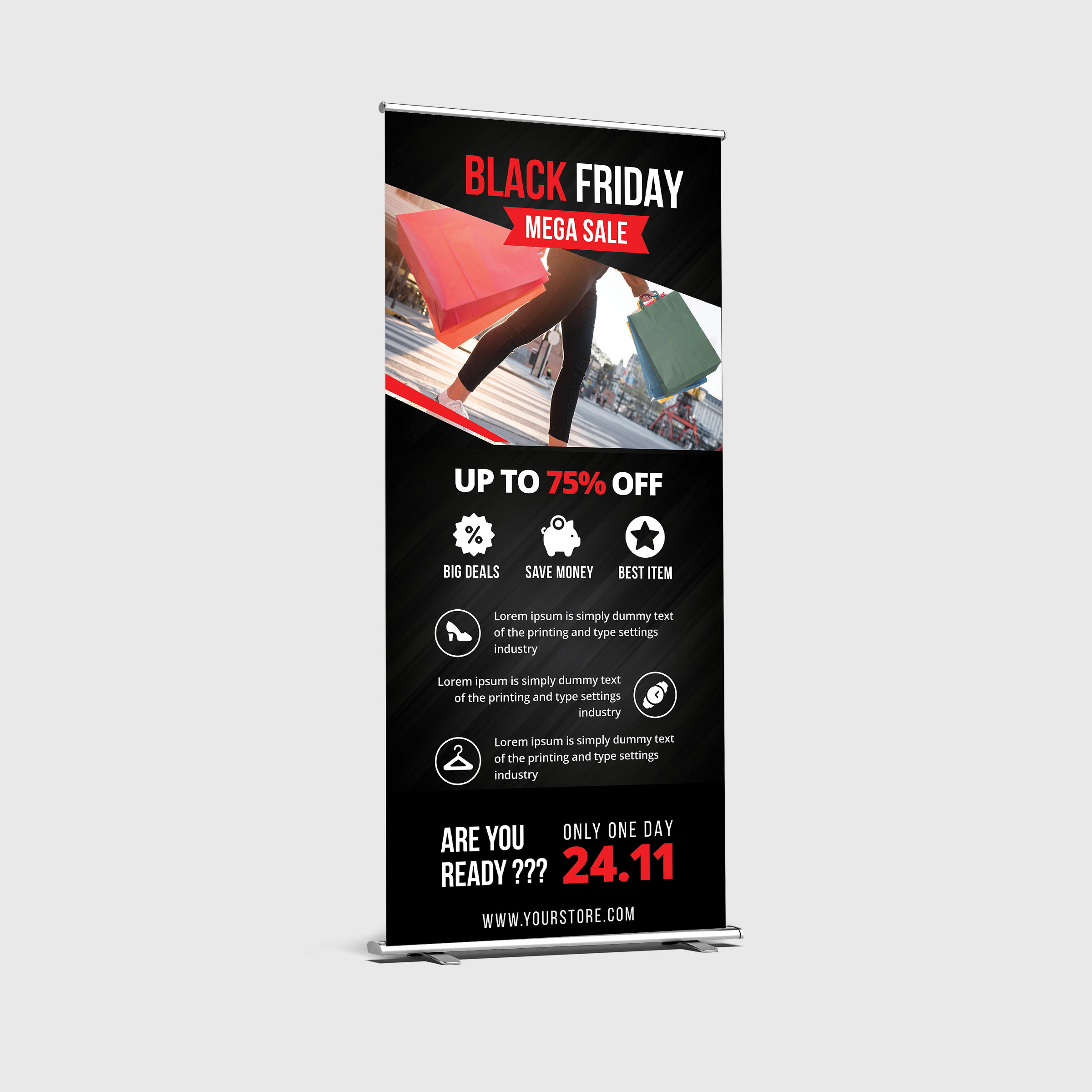 Black Friday Roll Up Banner example image 3