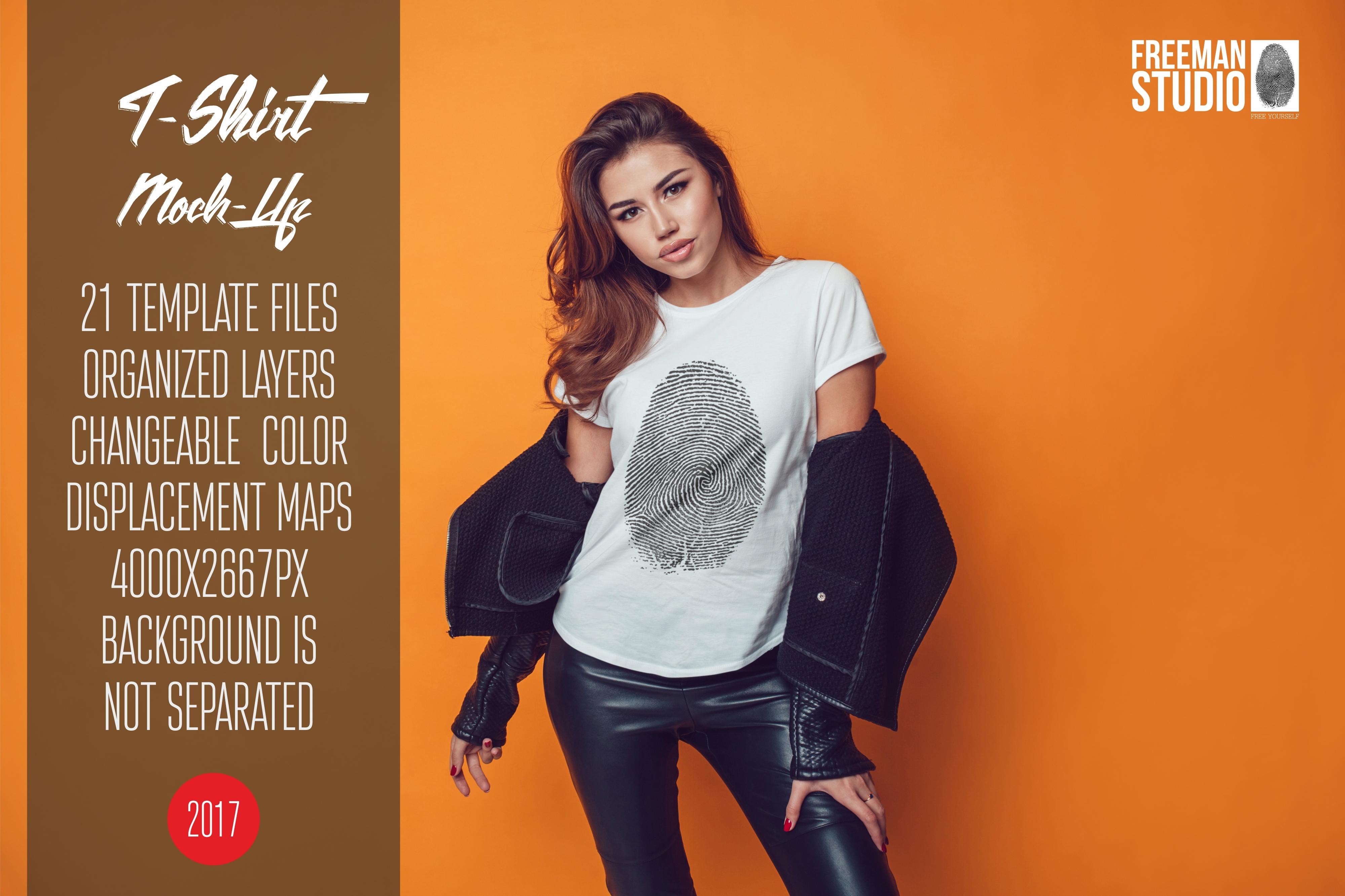 T-Shirt Mock-Up Vol.22 2017 example image 1