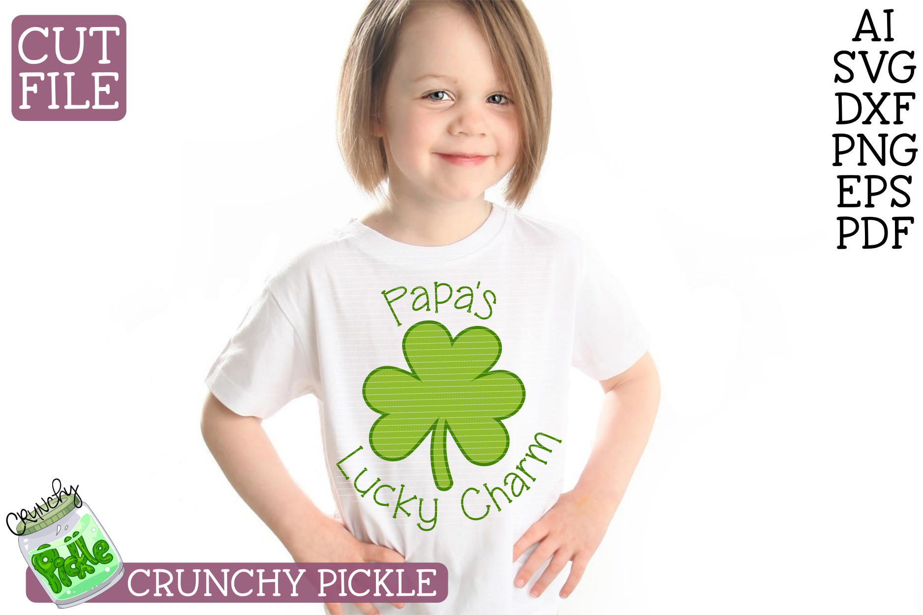 Papa's Lucky Charm - St Patrick's Day SVG File example image 1