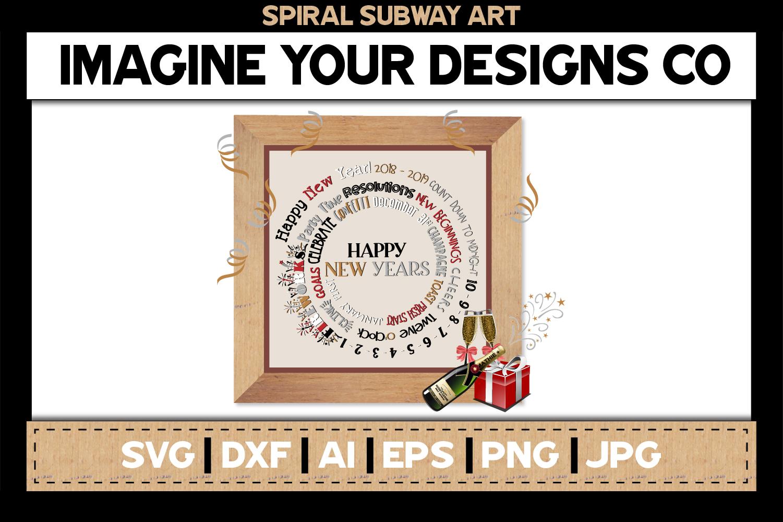 Spiral Subway Printable SVG Clipart Bundle example image 7