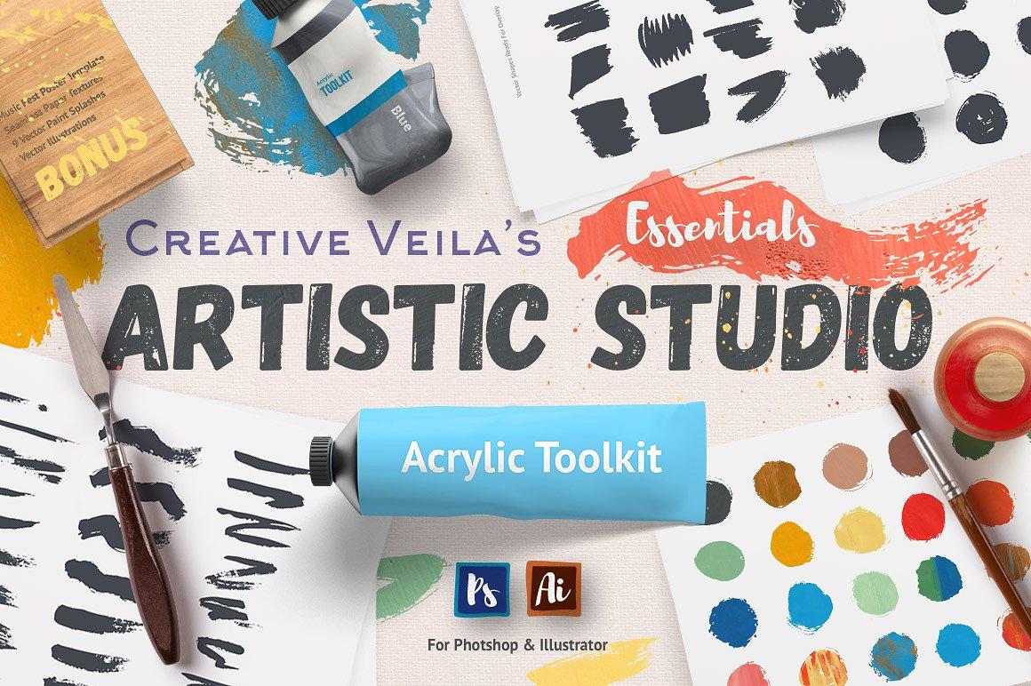 Artistic Studio: Acrylic Toolkit example image 1