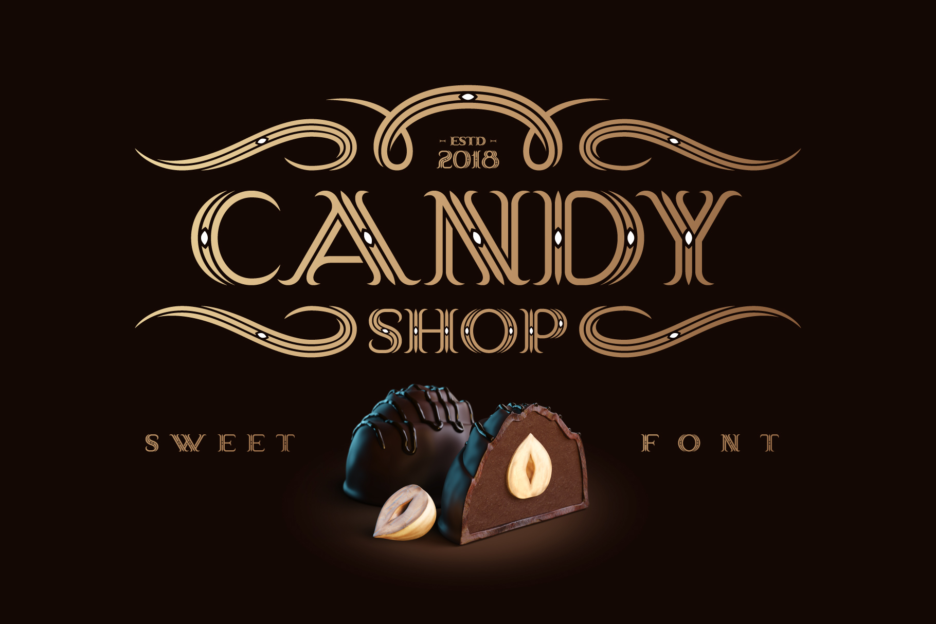 Candy Shop font with bonus example image 1
