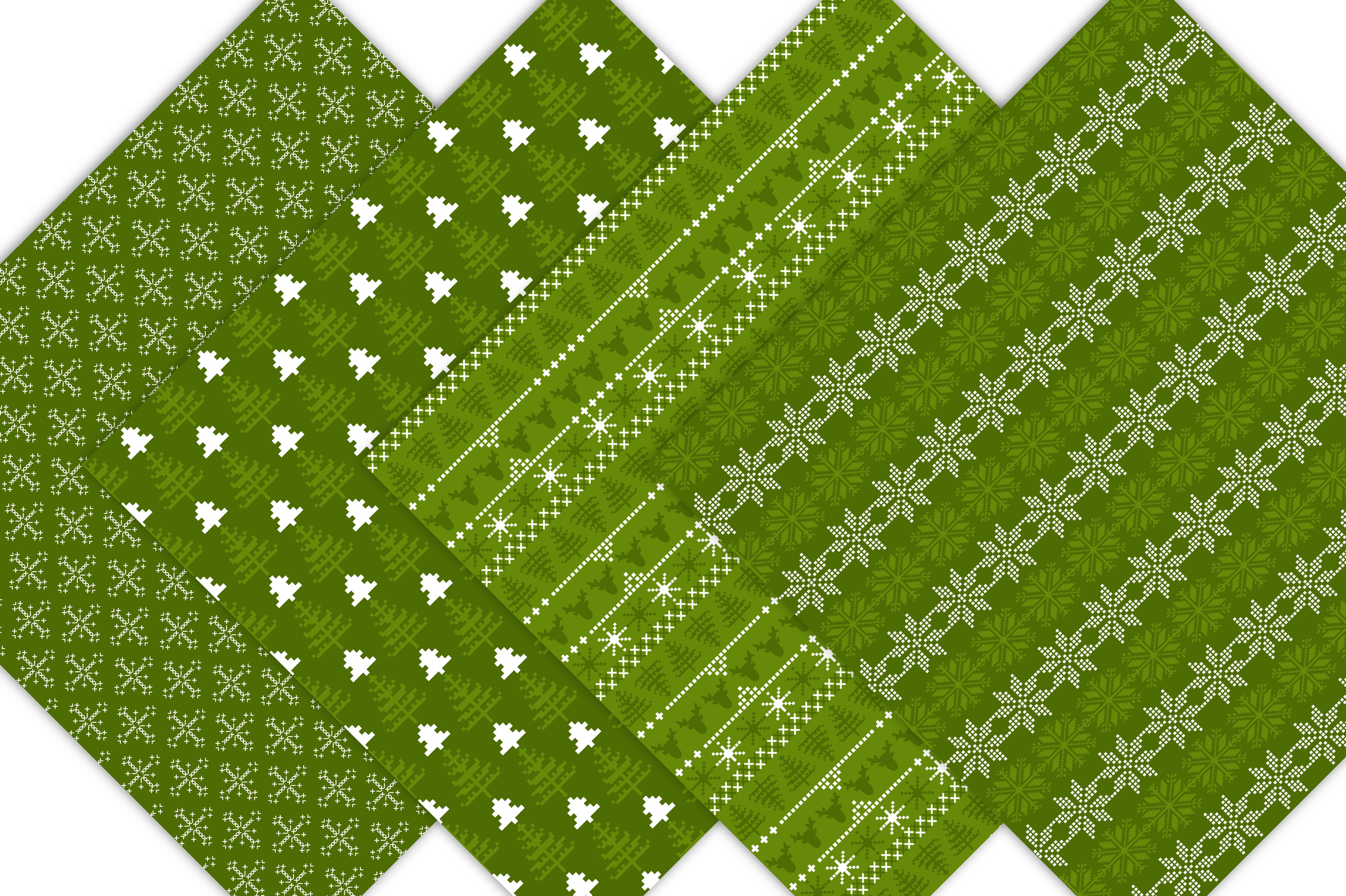 Green Nordic Patterns example image 5
