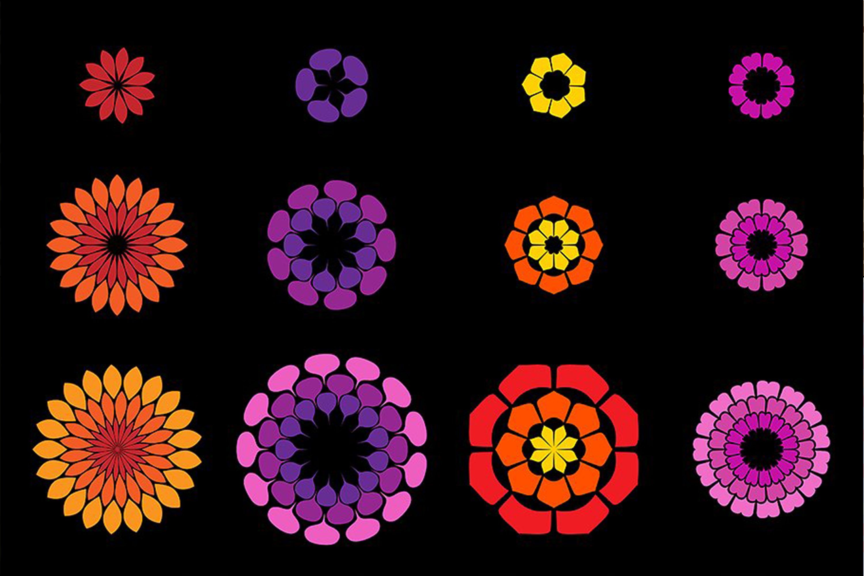 Flower Petal Brushes example image 5